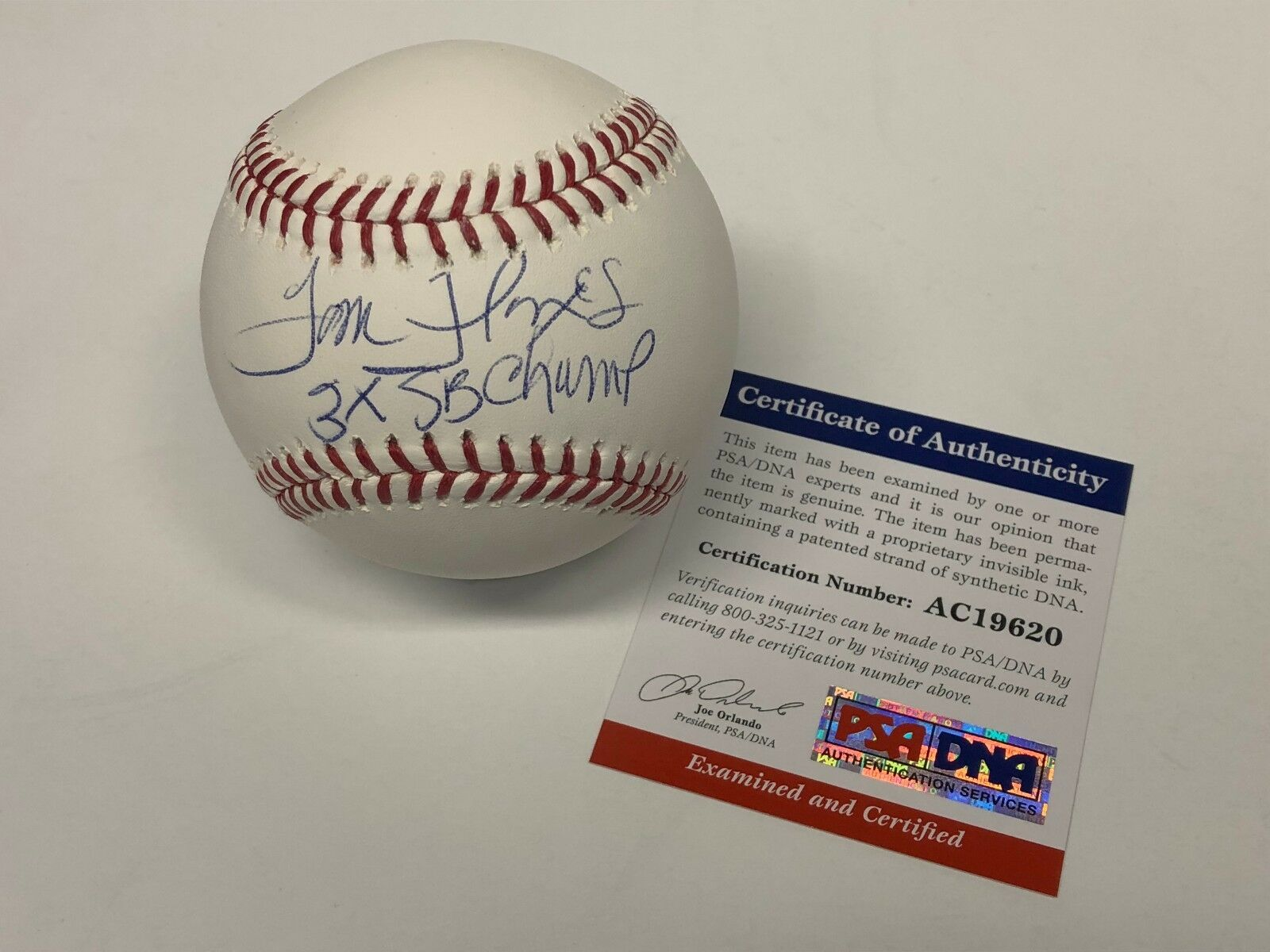 Tom Flores Signed Major League Baseball