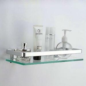 Kes Aluminum Bathroom Gl Rectangular Shelf Wall Mounted Tempered No Tax