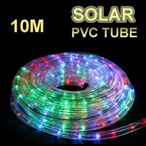 size 40 529a4 893ba Solar 10M Multicolored LED Rope Lights PVC Hard Tube Party ...