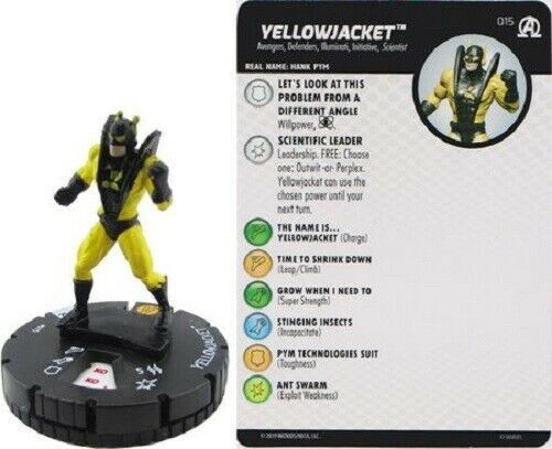 Marvel Heroclix Black Panther /& Illuminati YELLOWJACKET #015