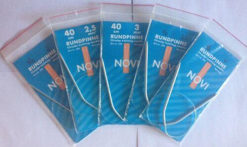 """0-13 Novi circulaire aiguilles à tricoter fabriquées en Norvège 12/"""" 16/"""" 24/"""" 32/"""" Tailles 2mm-9mm"""