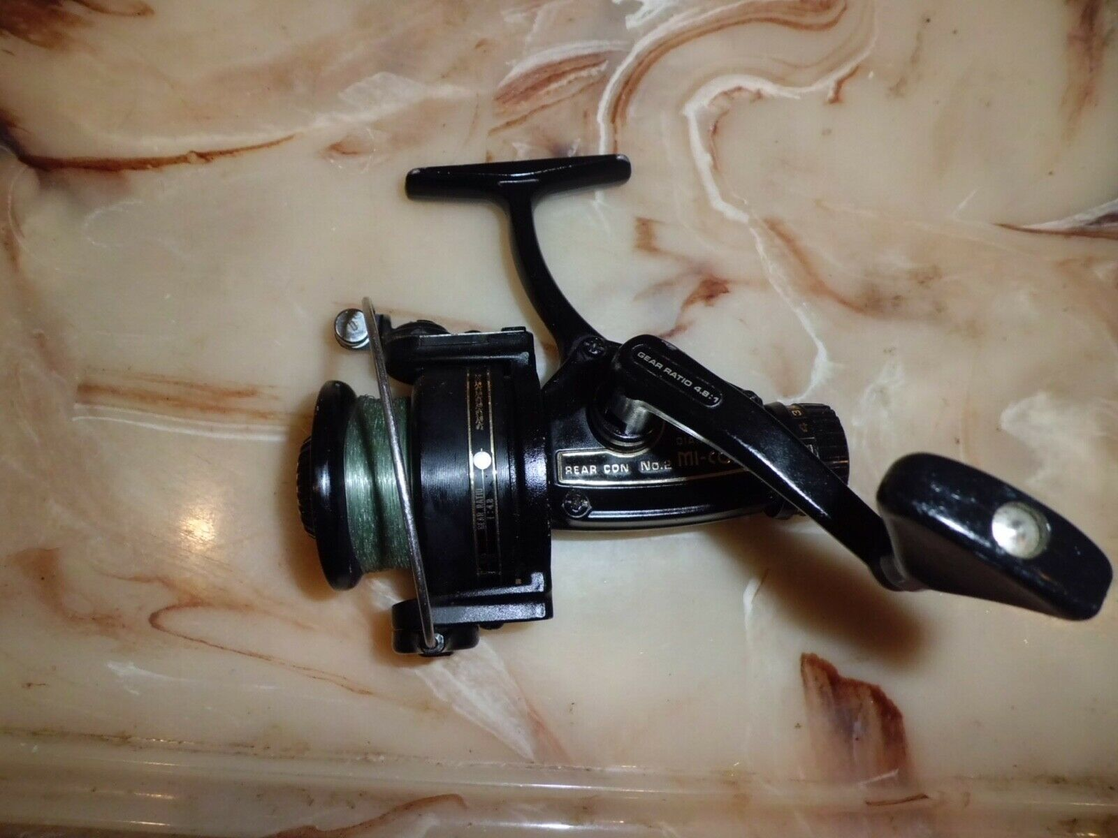 Vintage DIAMOND MI-CON No. 2 Spinning Reel made in Japan- Omori S.S.