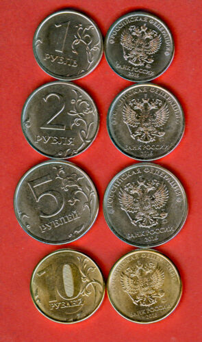 10-1.00 2 10.00 Roubles 2016 NEW TYPES UNC 2.00 5.00 5 RUSSIA 1