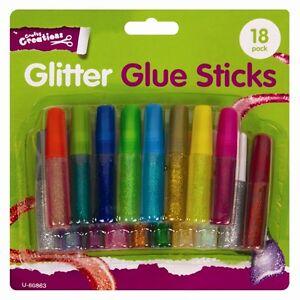 18 Glitter Glue Pens Children Kids Scrapbooking Art Cards ...