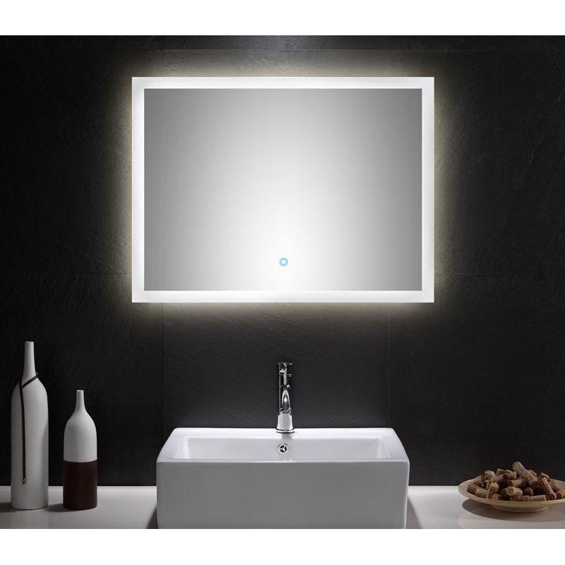 Badezimmer Spiegel mit LED Beleuchtung Touch Funktion 80cm Badspiegel Badmöbel