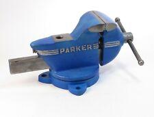 Restored Vintage Chas Parker Usa 63 12 Blue Streamliner Swivel Bench Vise
