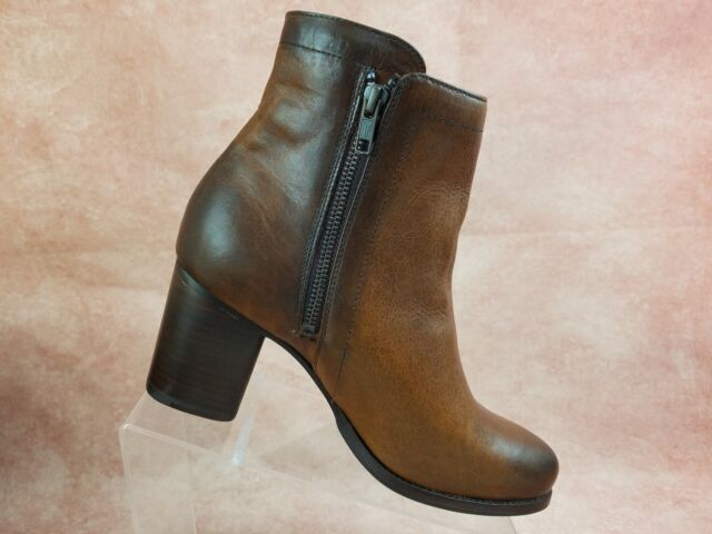 cb56ef1e829 Frye Addie Double Zip Ankle Boot Size 11 M Womens Brown Leather