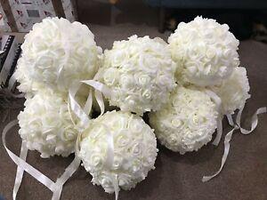 SéRieux Mousse Rose Kissing Ball 20 Cm 4 Couleurs Diamètre De Mariage Decor événements Centrepiece-afficher Le Titre D'origine