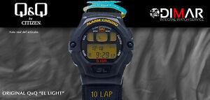 Vintage Watch Q&Q The Light. 9927, Wr 5m. Lap Memory 10. (M100-007)