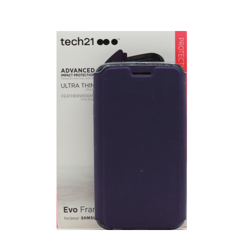 best loved 8f1be 8bf41 Case for Samsung Galaxy S6 Edge Tech21 EVO Frame Wallet - Purple