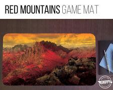"Red Mountains Land Game Mat - 12"" x 22"" Neoprene - MTG Magic Card Desk Mat"