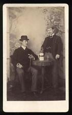 c1890 CDV Two Dandies Sharing Spirits, George Ward, Amersham Photographic Studio