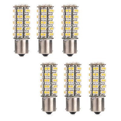 6X 1156 BA15S 68 SMD 3528 LED Turn Tail Warm White Car Light Bulb 1073 1141 1129