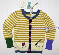 Girls Matilda Jane Paint by Numbers Old Gold Cardigan Sweater Size ...