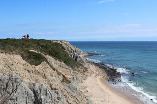 Block Island Rhode Island South Light Lighthouse /& Bluffs HD Poster Scenic Print