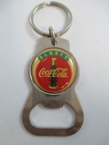 Coca-Cola-Metal-Always-Coca-Cola-Keychain-Bottle-Opener-Vintage-1990s-NOS