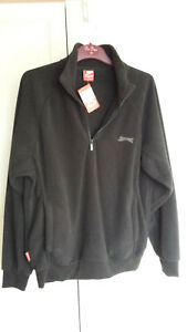 Slazenger-Mens-Black-Fleece-Jacket-quarter-zip-Large-never-worn-with-tags