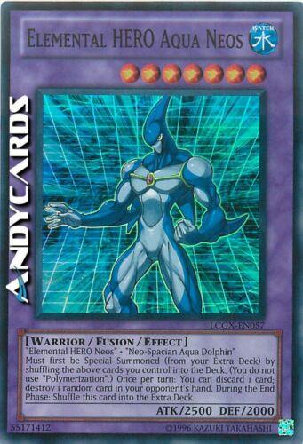 ELEMENTAL HERO AQUA NEOS • Super R LCGX EN057 Yugioh Neos Aqua Eroe Elementale