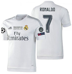 Details about ADIDAS CRISTIANO RONALDO REAL MADRID AUTHENTIC FINAL UCL MATCH JERSEY 201516.