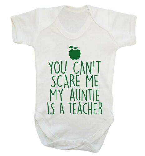 baby vest nephew niece baby shower birthday funny 1049 My auntie is a teacher