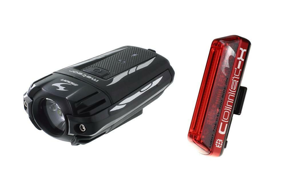 Moon Meteor 300 And Comet X USB LED Front And COB LED Rear Bike Light Set LAA277