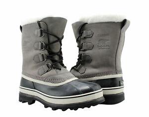 New-Sorel-Women-039-s-Caribou-Boots-Gray-Shale-Stone-Waterproof-Winter-40-PICK-SIZE