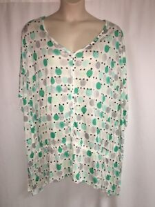 Lane-Bryant-Blouse-Polka-Dolman-Womens-Plus-Size-14-16-18-20-22-24-26-28-NWOT