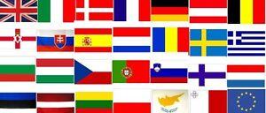 European Union 5 X 3 Flags Eu Europe Nations National Flag Various