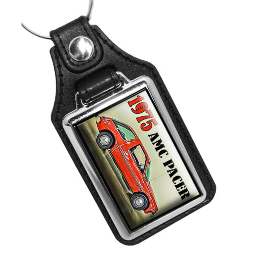 1975 AMC Pacer American Motors Company Design Faux Leather Key Ring
