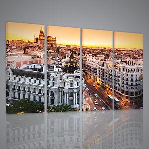 QUADRO MODERNO MADRID XXL QUADRI MODERNI SU TELA | eBay
