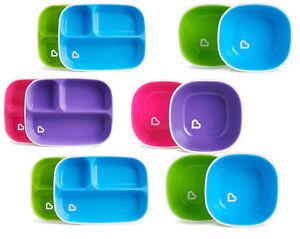 Munchkin-Baby-Feeding-Dishes-Food-Weaning-Bowls-Plates-Splash-2Pk