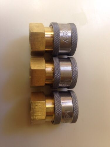 """3 Pk 1//4/"""" Male Brass Pressure Washer Quick Couplers 4500 psi"""