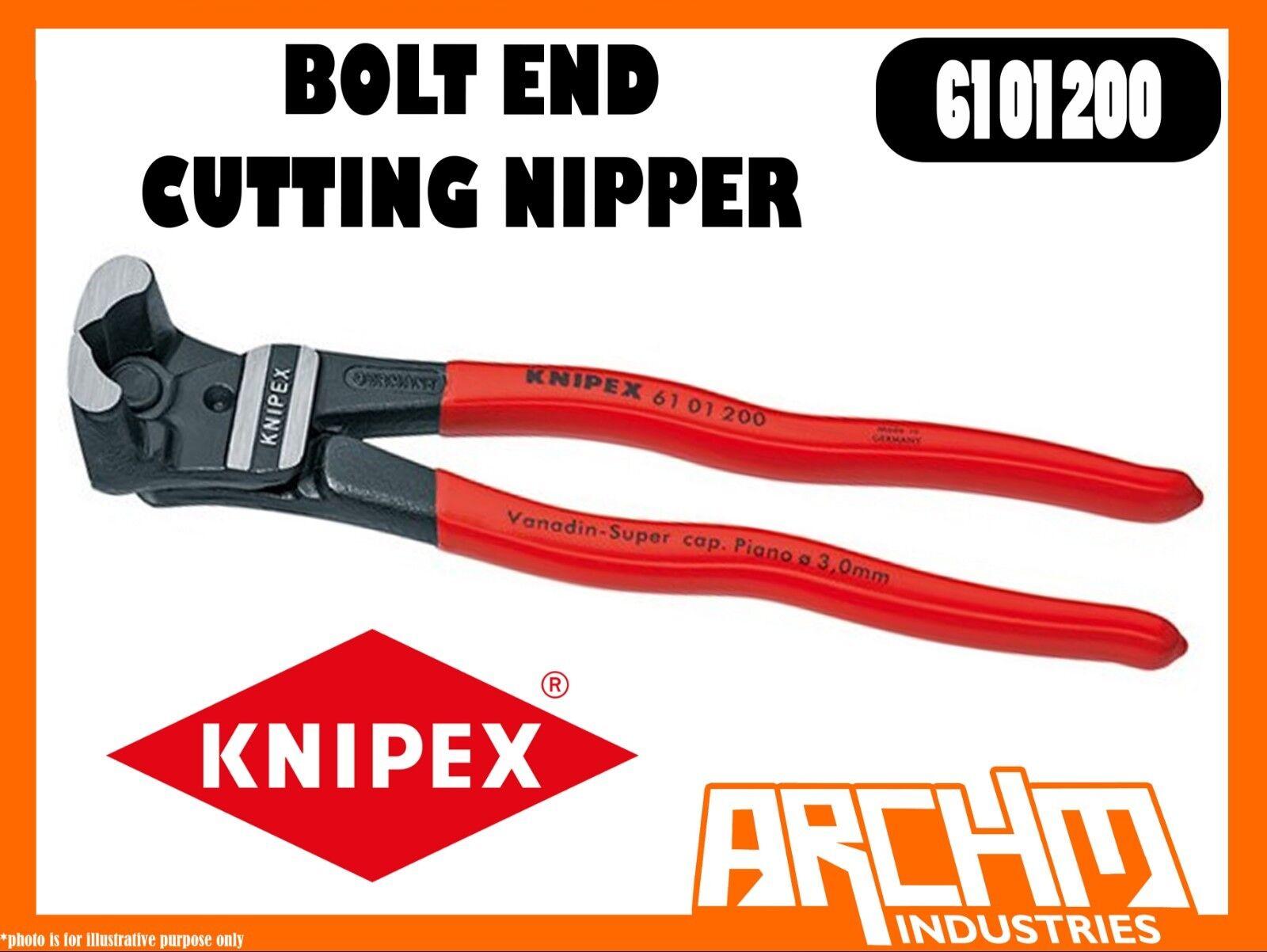 KNIPEX 6101200 - BOLT END CUTTING NIPPER - 200MM - CUTTING EDGES HARDENED