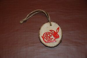 Hand-made-Rabbit-Bunny-Wooden-Hanging-Decorations-100-CHARITY