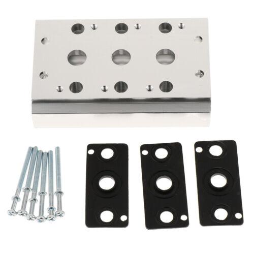 Verteilerblock für 4V210 08 4V220 08 4V230 08 Magnetventil Vollstation