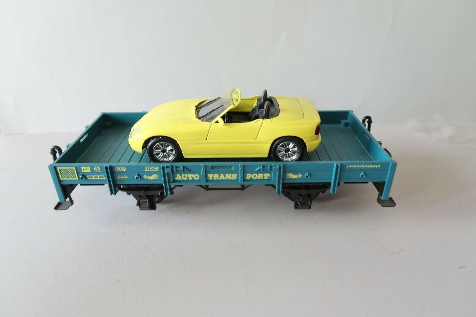 LGB Sur G DC 70520 Autotransportwagen mit BMW (DW074-35S4 0)