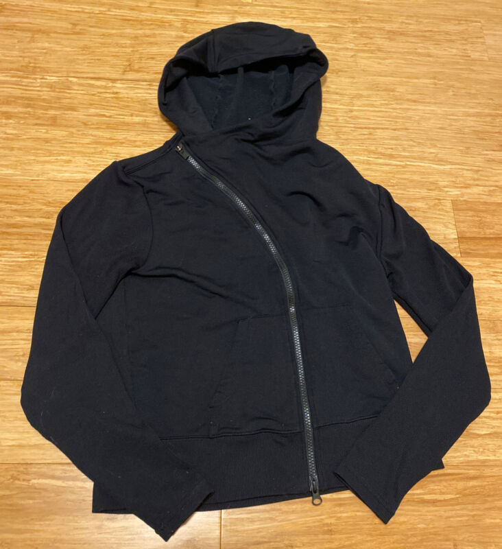 100% Quality Athleta Cross Zip Black Athletic Hoodie Sz S Keep You Fit All The Time