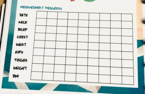 Gym Fitness Exercise Tracker Two Sided Dashboard Insert 4 use w HAPPY Planner