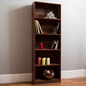 Image Is Loading Cambridge 5 Tier Extra Large Bookcase Display Shelving
