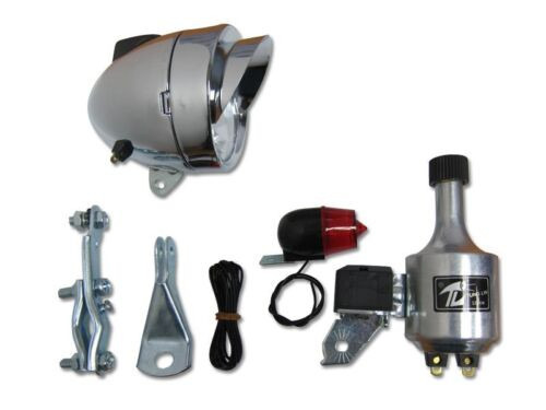 Bullet Head Light Generator Kit For Bicycle and Motorized Bike Front Headlight