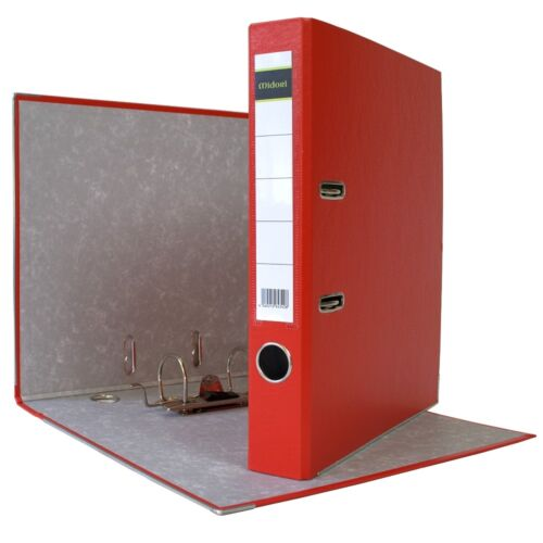 10 x Ordner A4 5 cm PP Papier Rot Aktenordner Briefordner Schmal Midori-Europe