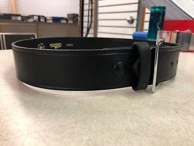 """Boston Leather 6581-3-38 Black 38/"""" Basketweave Off Duty Garrison Belt 1/"""" Wide"""