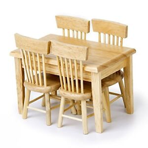 barbie wood furniture. Image Is Loading 1-12-Crude-Wooden-Kitchen-Dining-Table-Chair- Barbie Wood Furniture I