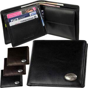 CHIEMSEE Herren Geldbörse Mens Wallet Leather Purse Geldbeutel Portemonnaie quer