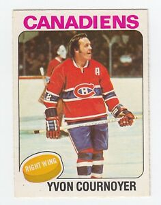 1975-76-OPC-O-PEE-CHEE-70-YVON-COURNOYER-EX-NM-MONTREAL-CANADIENS-HOCKEY-CARD