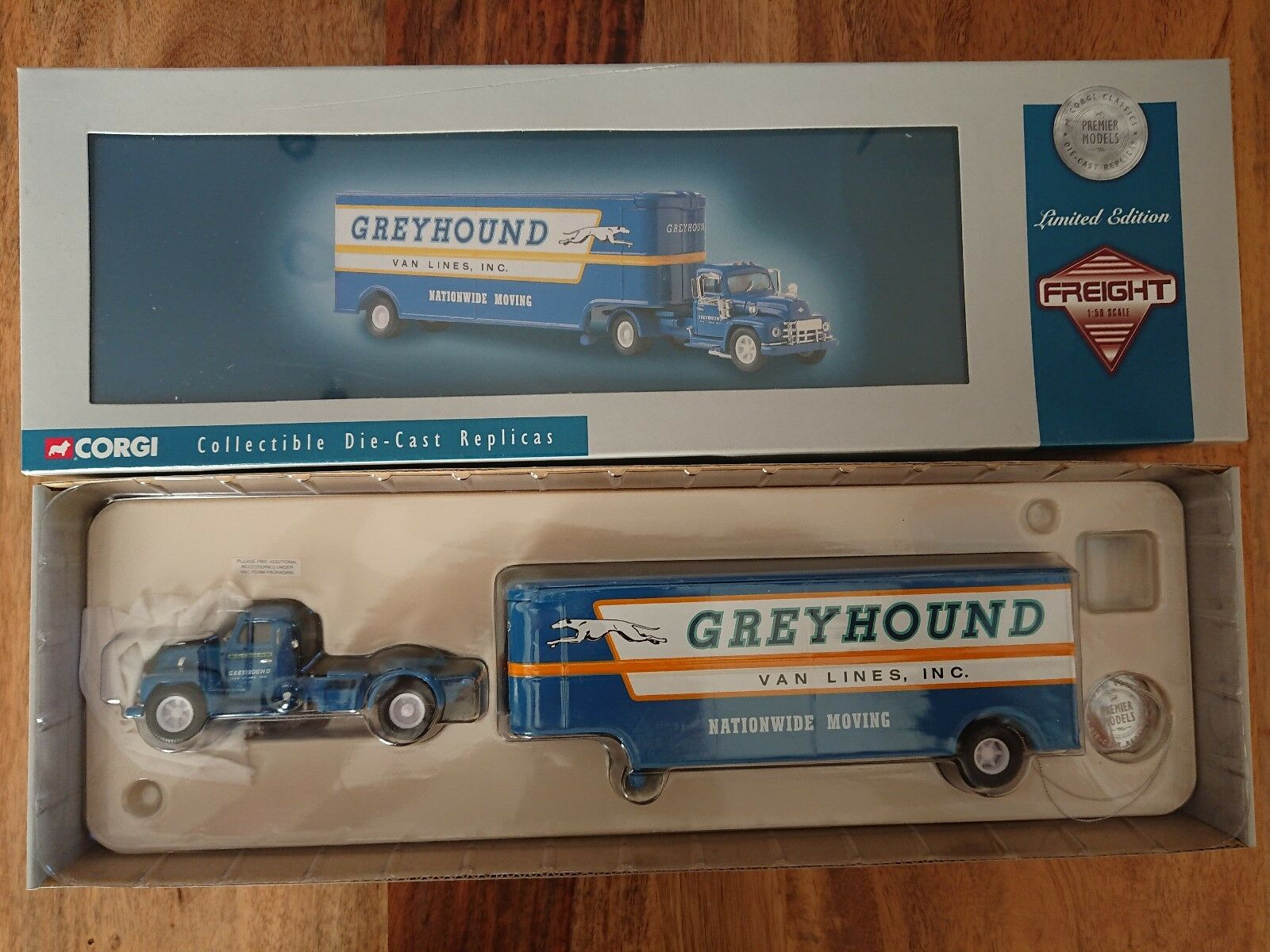 Corgi 53101 diamond t620 fruehauf grauhound - linien ltd. artikel nr. 0001 2500