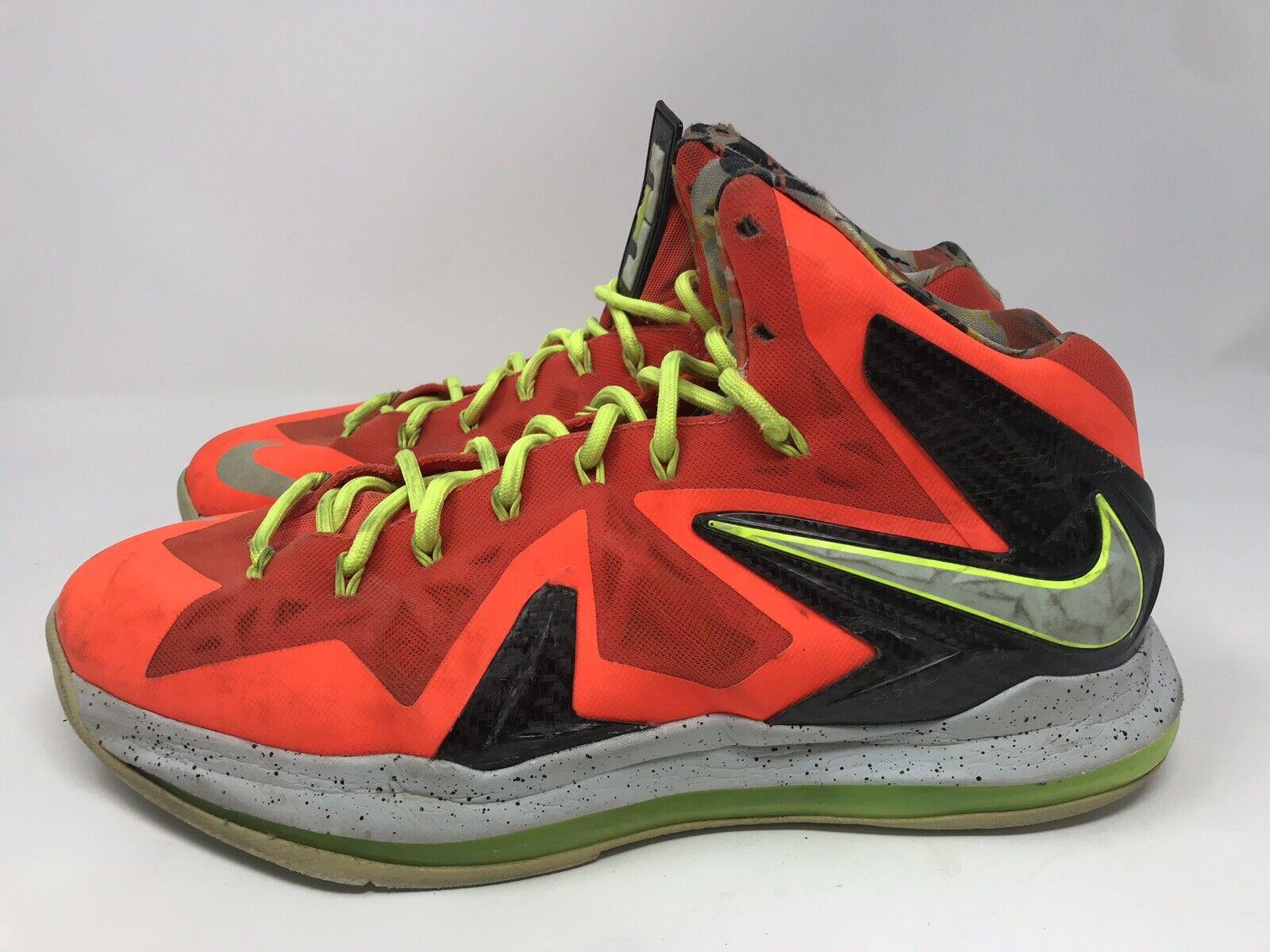 Nike Lebron X 10 P.S Elite Basketball shoes total Crimson 579827 800 Sz 11