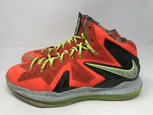 8e3c0fb76d2ac3 Nike Lebron X 10 P.S Elite Basketball Shoes total Crimson 579827 800 ...