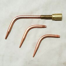 Airco Brazing Welding Torch Tip Set 8100781 Mixer Amp Size 1 3 Amp 5 Style 98 Tips
