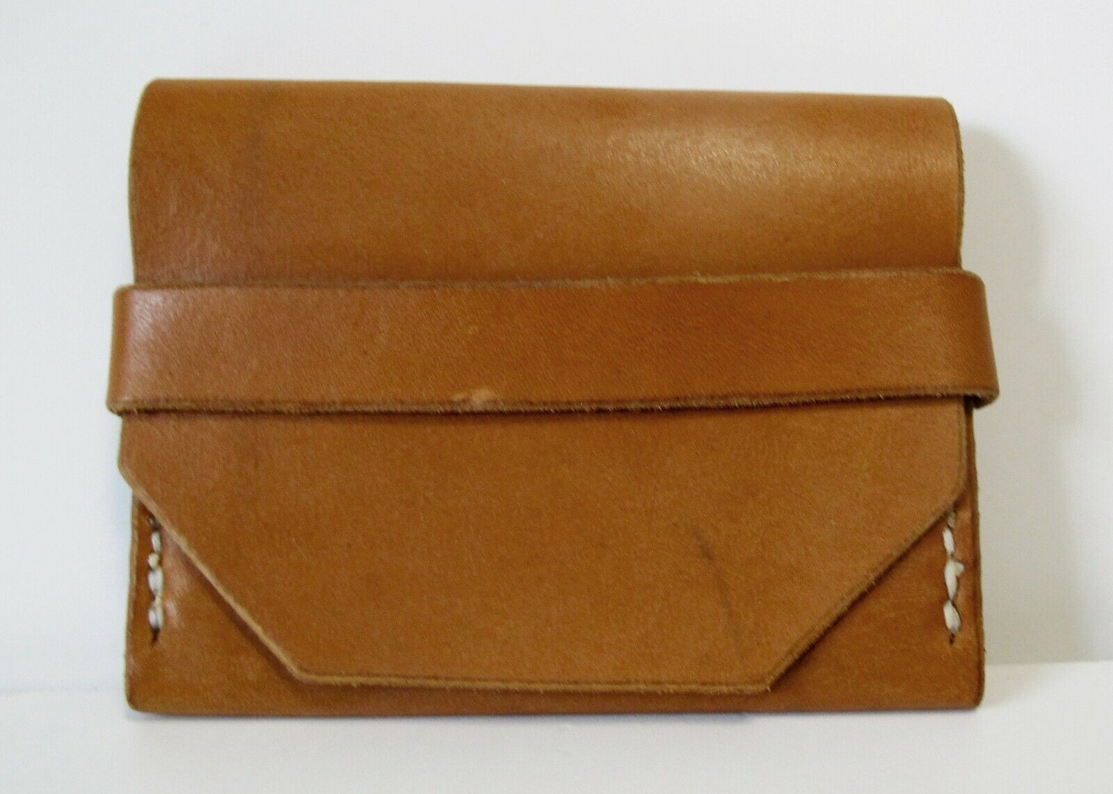 Full-Grain Horween Cowhide Cash and Card Flap Men's Wallet, Natural Finish